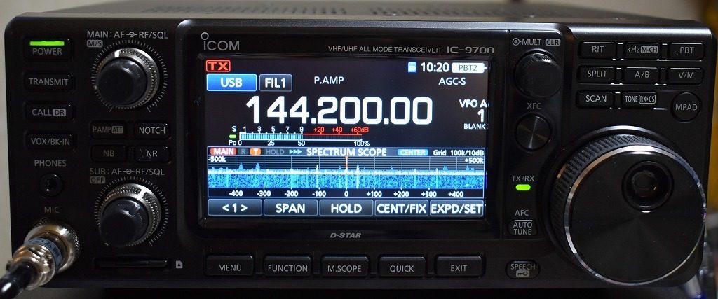 IC-9700でFT8(USB接続/CAT利用)